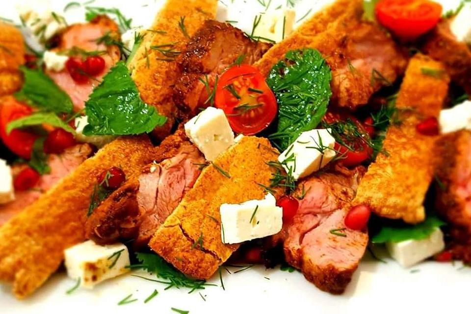 Herb and Spiced Lamb Salad