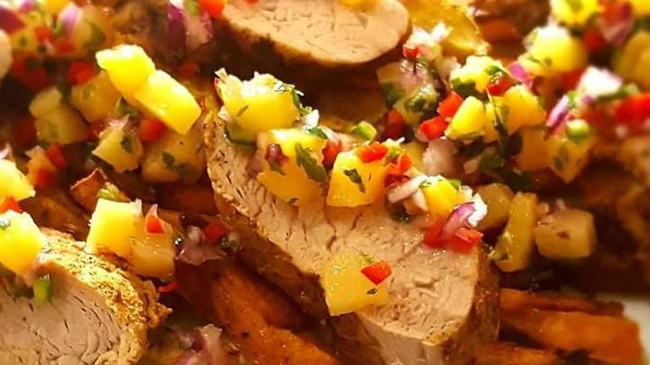 Jerk-Spiced Pork with Pineapple Salsa