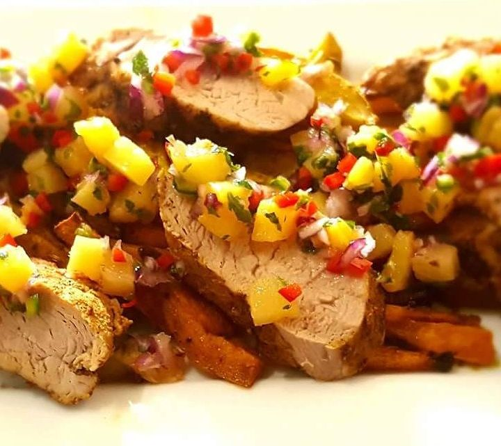 Jerk-Spiced Pork with Pineapple Salsa