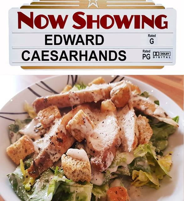 Edward Caeserhands (Ultimate chicken caesar salad)