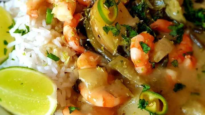 Creamy Thai Green Prawn Curry