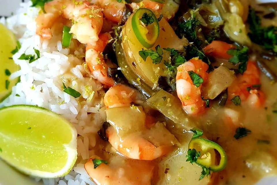 Creamy Thai Green Prawn Curry