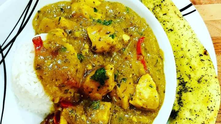 Creamy Chicken Curry with Rice