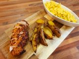Piri Piri Chicken with Saffron Mac n Cheese & Spicy Wedges