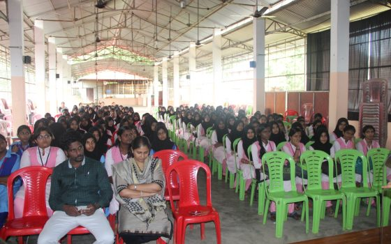 Dengue fever awareness campaign at Muslim Girls Higher Secondary on 16/06/2017