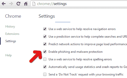 chrome-malware-protection