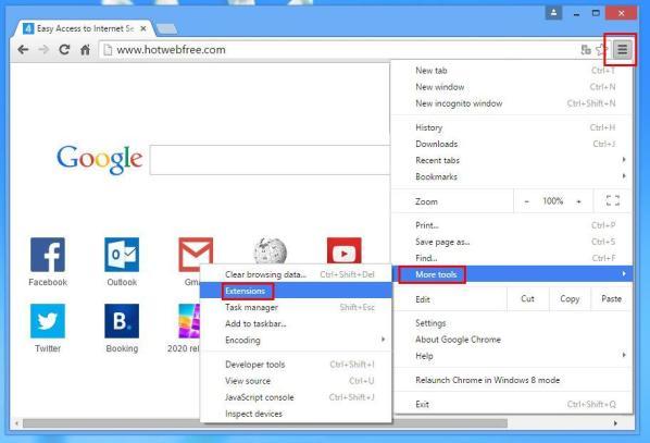 estensioni strumenti di Chrome