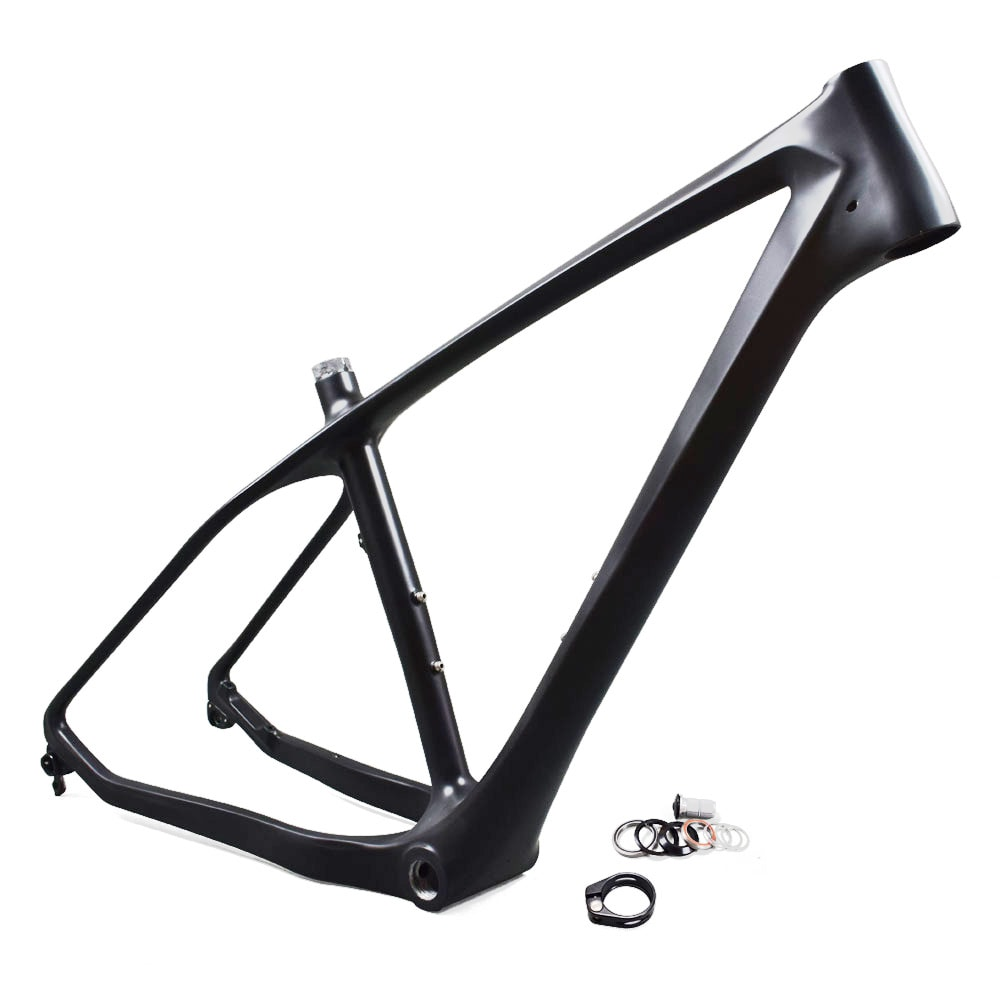 carbon fatbike frame with clamp