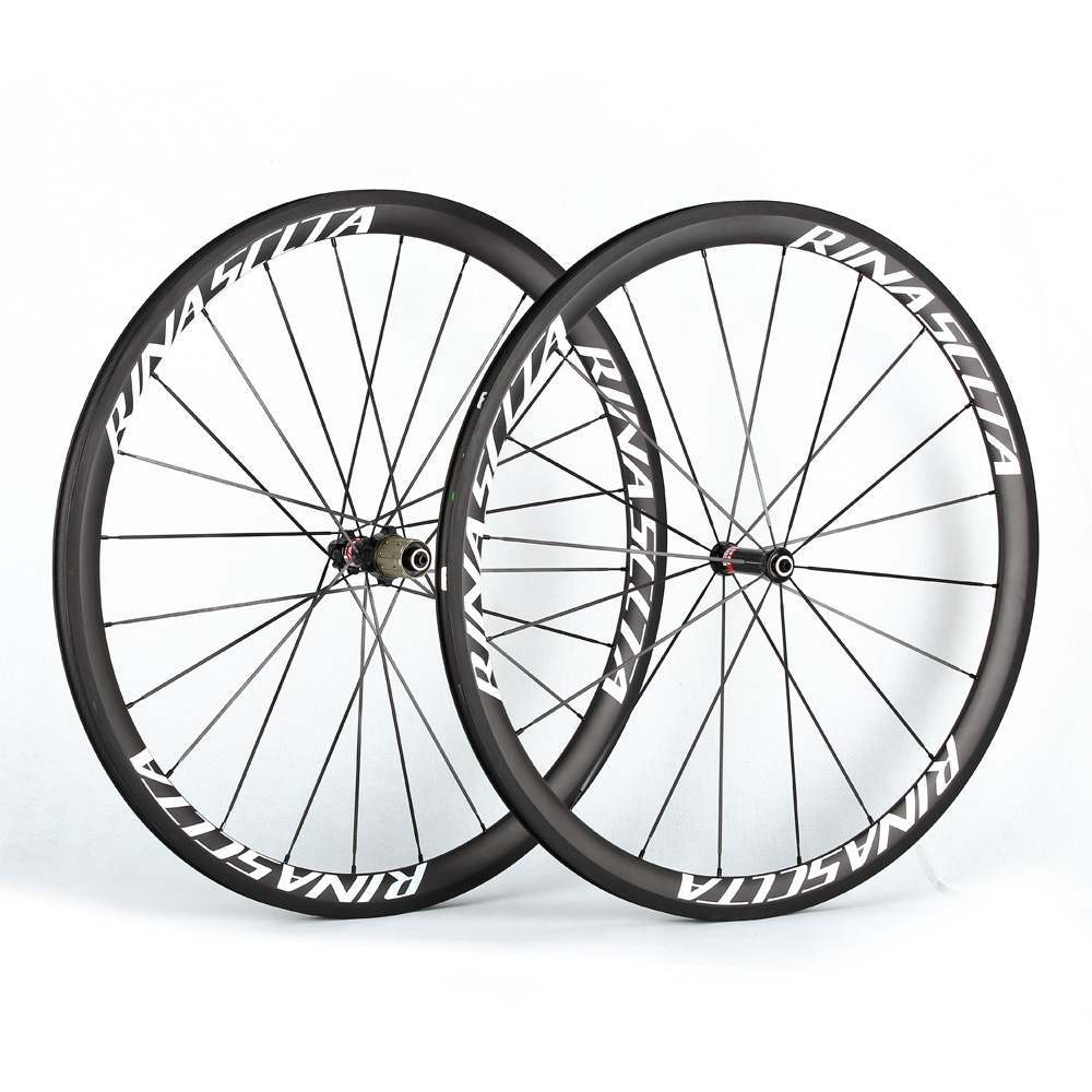 Rinasclta carbon fiber road bike wheelset clincher