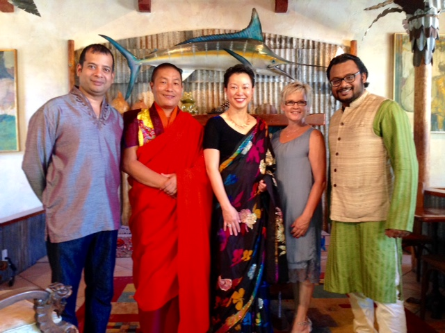 Rina Tham With Honored Guest Baza Guru Rinpoche And