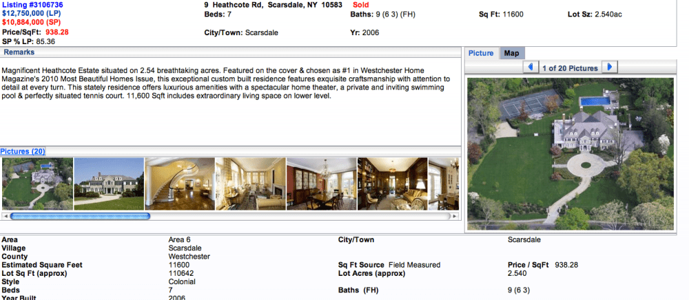 Beyonce & Jay Z Rumors/Facts on Heathcote Rd, Scarsdale, NY  (5/6)