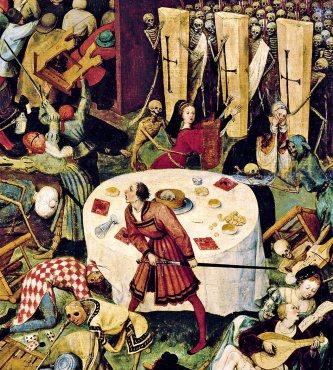 El triunfo de la muerte. Óleo de Peter Brueghel.