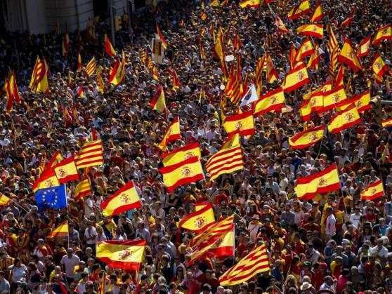 Manifestación Societat Civil Catalana 8O