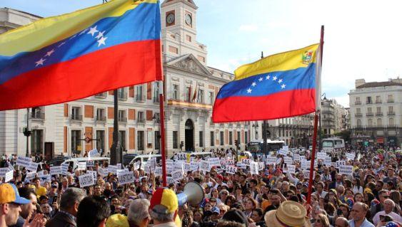 Manifestaciones venezolanos Madrid