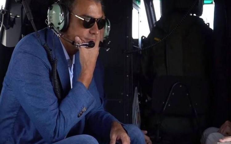Pedro Sánchez helicóptero