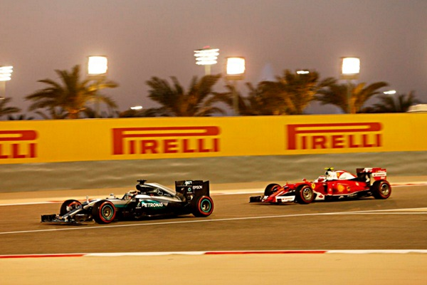 mercedes ferrari f1 bahrein 2016