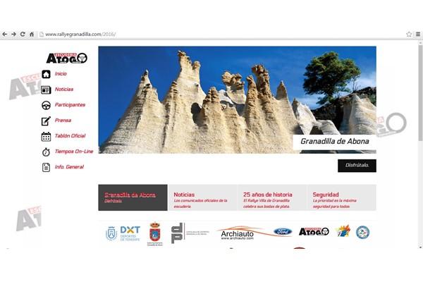 Cartel Rallye Granadilla 2016