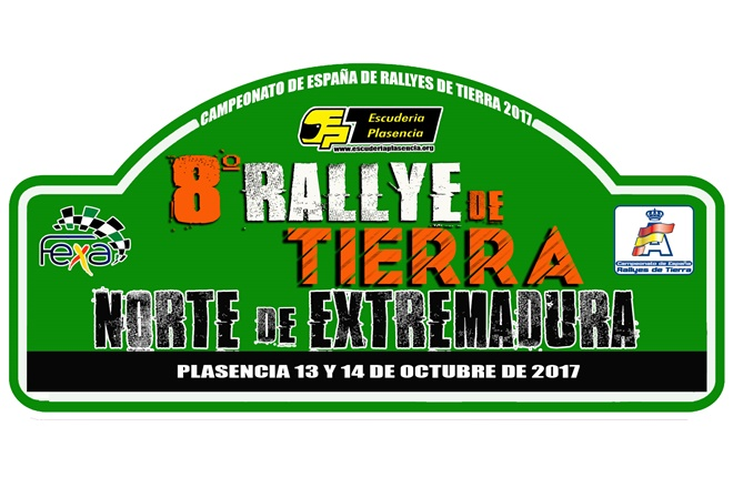 placa rallye tierra norte extremadura 2017