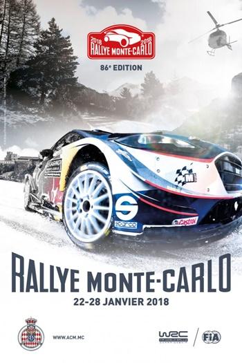 cartel rallye monte-carlo 2018