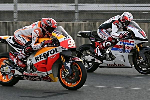 Marquez Alonso moto honda motegi