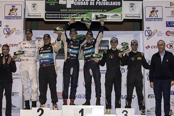 Podio Rallye Pozoblanco CERT 2016