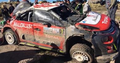 accidente Meeke rallye argentina C3