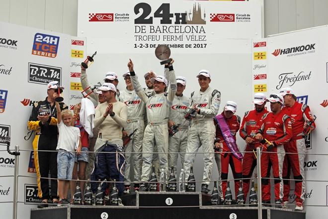 podio NM Racing 24h Barcelona 2017