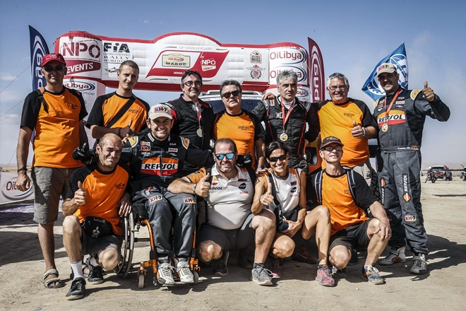 equipo esteve rallye Marruecos