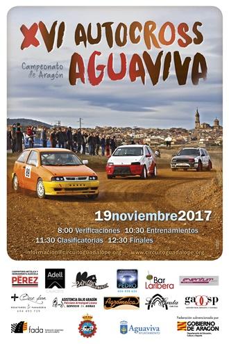 XVI AUTOCROSS AGUAVIVA cartel