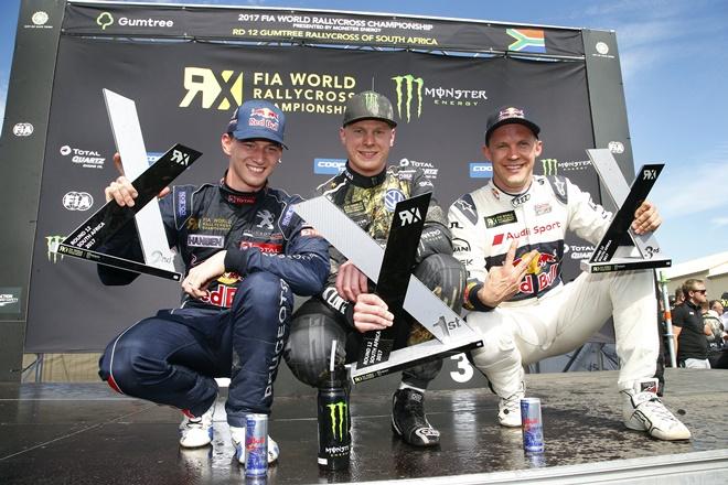 wrx sudafrica podio kristoffersson Hansen Ekstrom