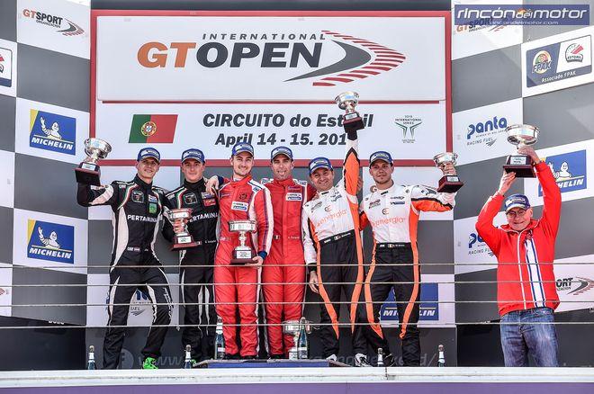 GT Open Estoril podio carrera 1