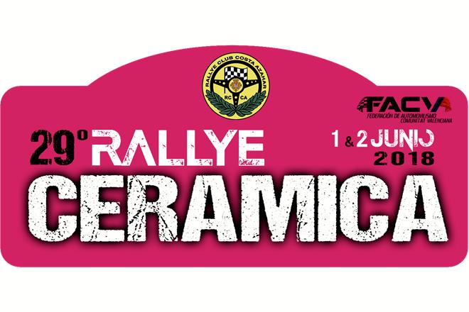 Placa Rallye Ceramica 2018