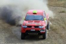 Los Mitsubishi de la Evo Cup lideraron sus categorías en la II Baja TT Dehesa de Extremadura