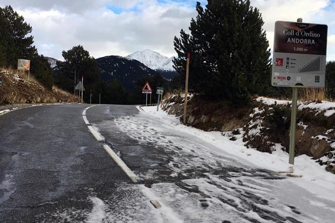 col ordino andorra winter rally suspension