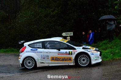 03 Oscar Palacio solo pudo ser tercero en el Rallye La Felguera 2019
