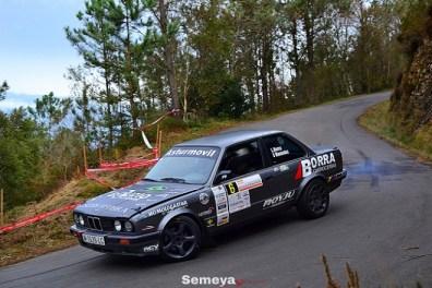 luis Borra solo pudo acabar tercero en el Rallysprint Villa de Luarca 2019