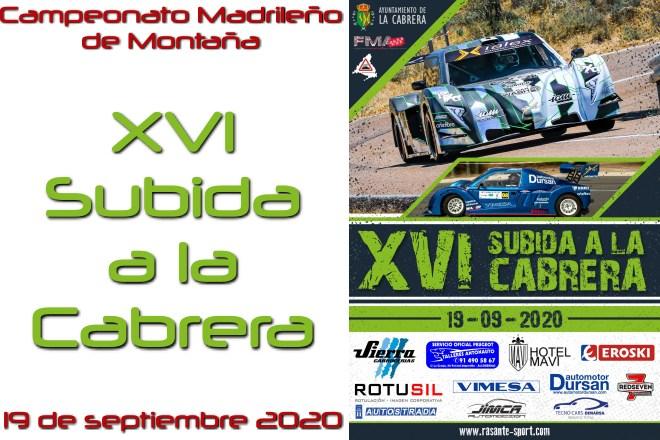 XVI Subida Cabrera 2020 cartel