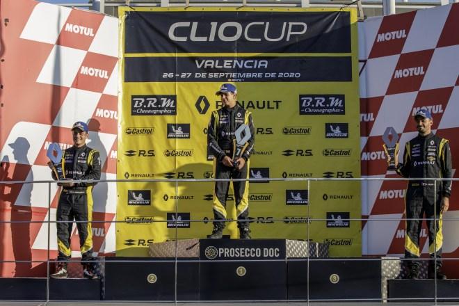podio renault clio cup cheste 2020