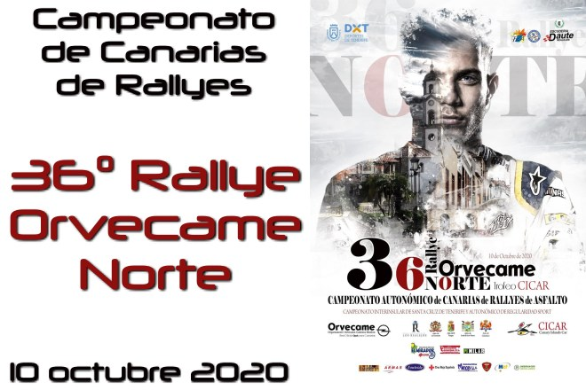 rallye orvecame norte 2020 cartela