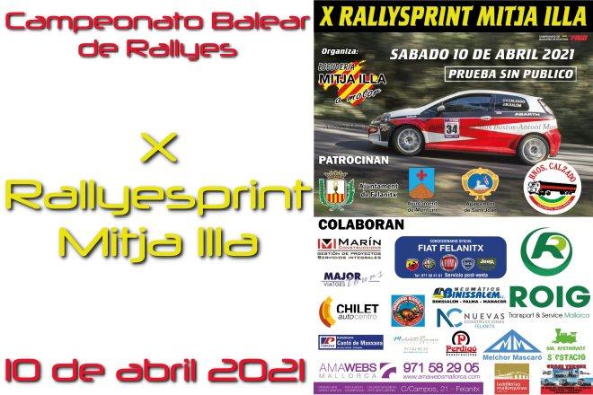 rallysprint mitja Illa 2021 cartela