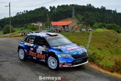 Cohete dos peldaños por arriba en la 1ª etapa del Rallye Princesa de Asturias