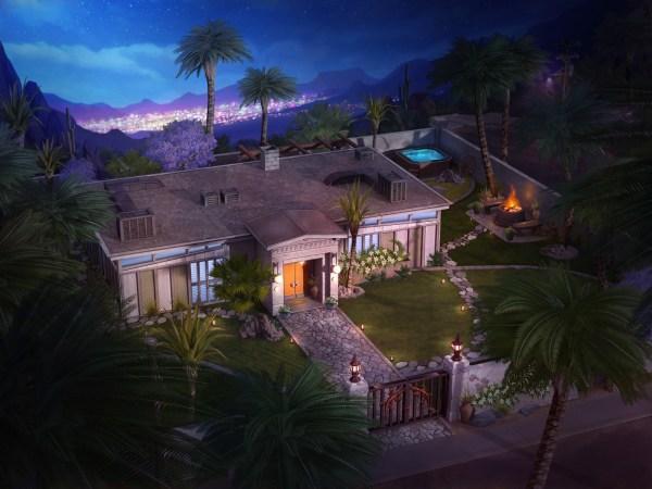Oasis Springs - Dibujo conceptual