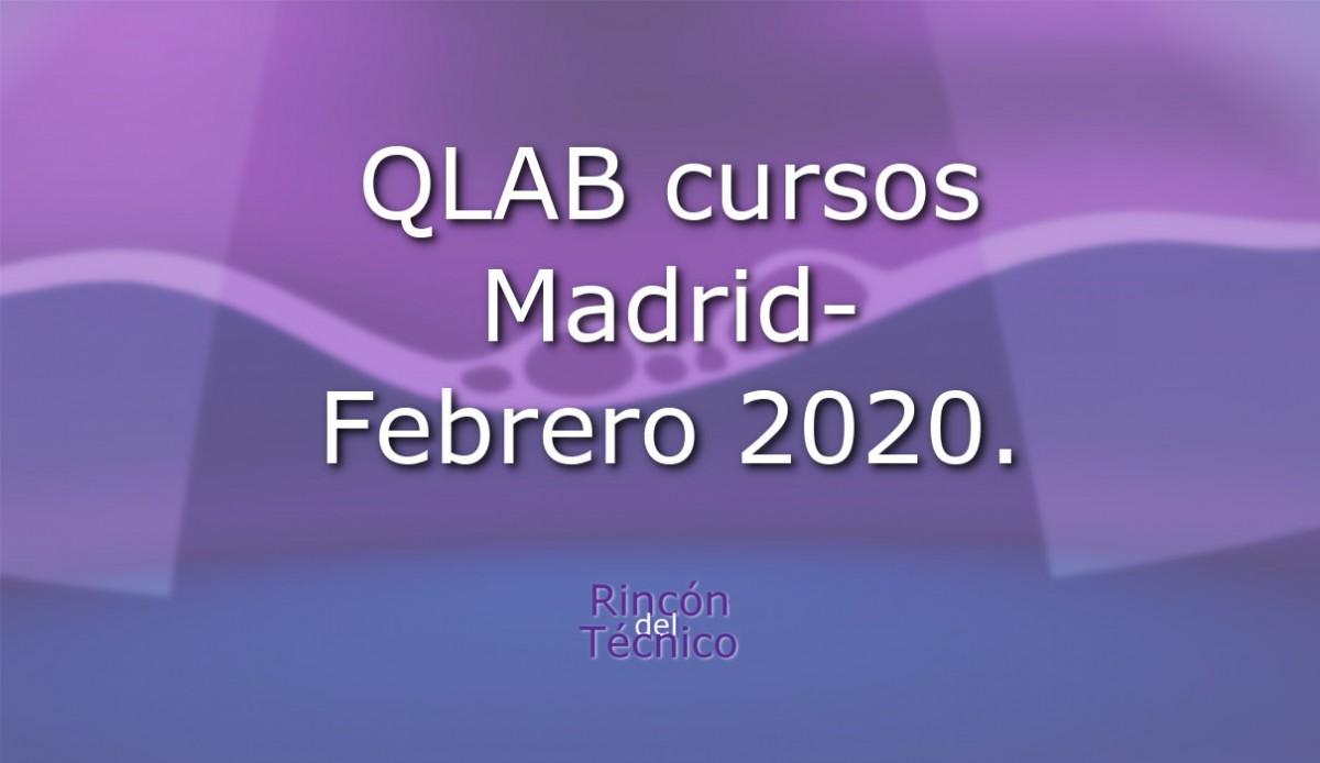 QLAB cursos Madrid-Febrero 2020.