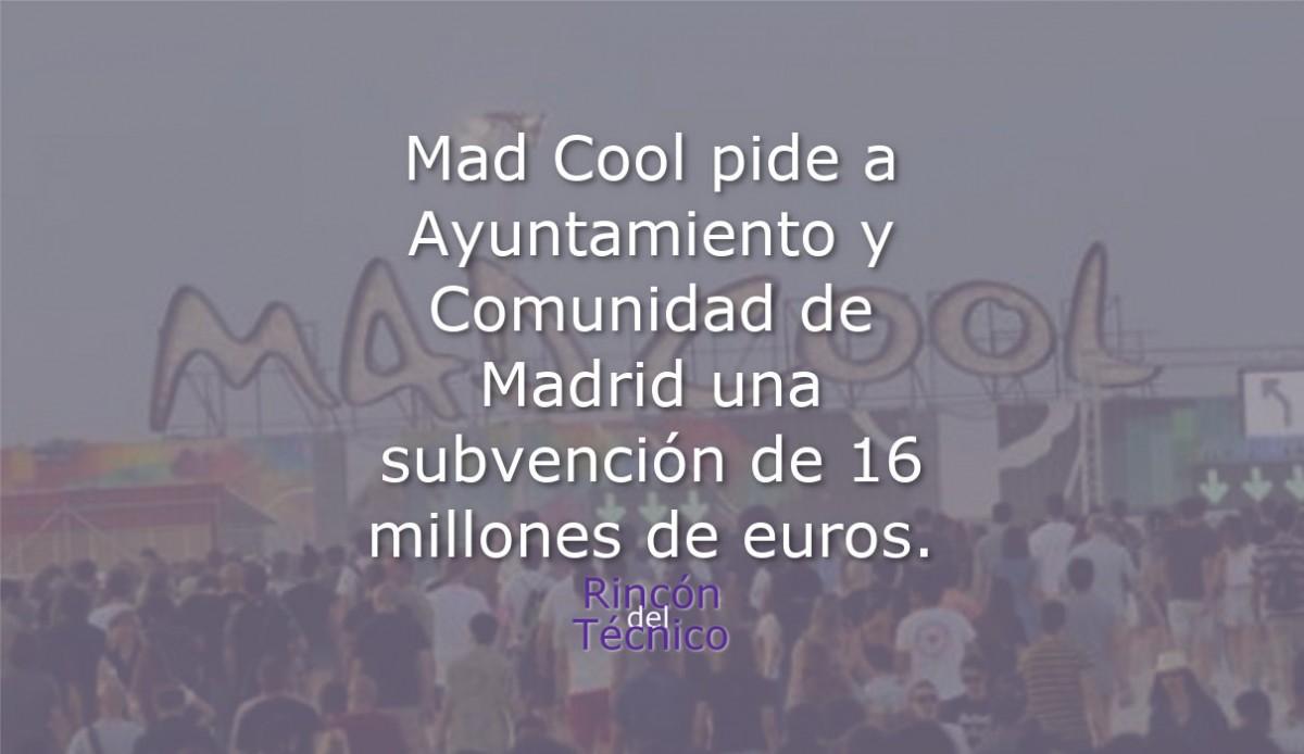 Mad Cool pide a Ayuntamiento y Comunidad de Madrid una subvención de 16 millones de euros.
