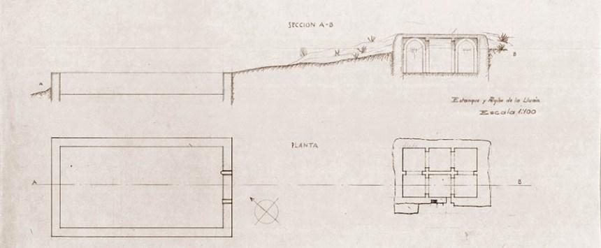 PLANO ALJIBE DE LA LLUVIA - IMAGEN PATRONATO DE LA ALHAMBRA