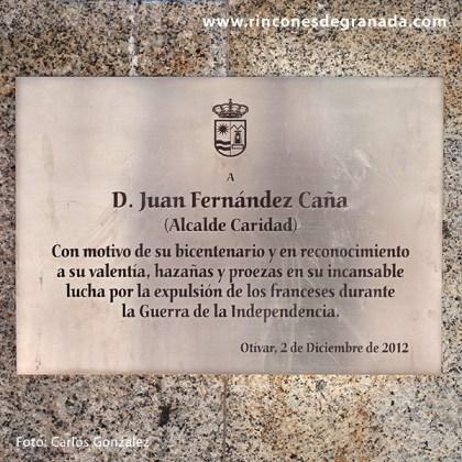 PLACA AL ALCALDE CARIDAD - OTÍVAR