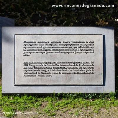PLACA - ESCULTURA DE ALEKSANDR PUSHKIN