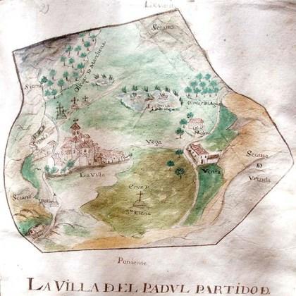 Plano de Padul incluido en el Catastro del Marqués de la Ensenada