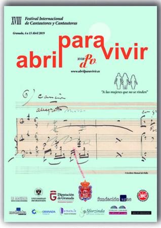 XVIII edición del festival Abril para Vivir @ Granada, Montefrío, Lanjarón, Galera, Montejícar, Fuente Vaqueros