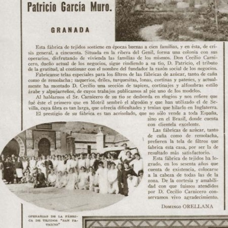 FÁBRICA DE TEJIDOS SAN PATRICIO - 1933